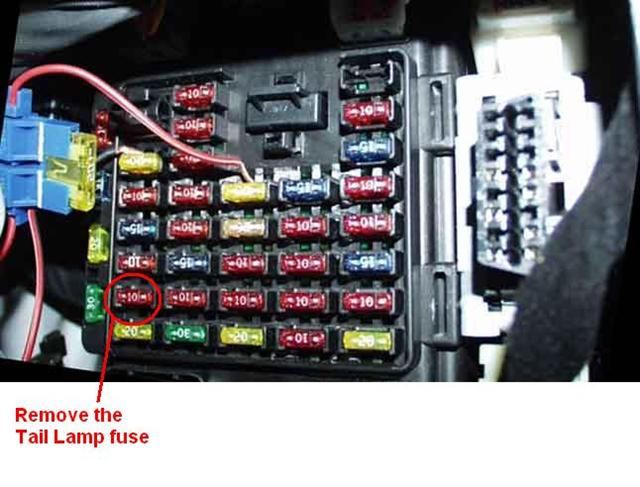 hyundai santa fe headlight buzzer installation locate the fuse in row 7 column 1 should be the 10amp tail lamp fuse and remove it