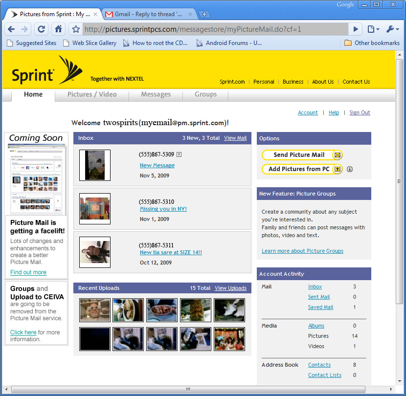 Sprint Mail Tiffany Teen Free Prono
