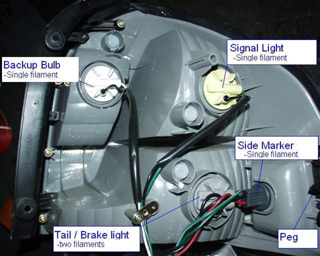 Once The Tail Light Is Out Become Familiar With It Inside Stock Oem Housing Are 4 Bulbs Sockets 1 Gray Socket Brake Bulb
