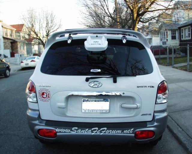 Hyundai Santa Fe Rear Spoiler Installation